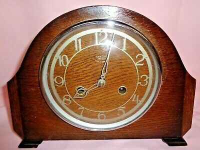 Vintage Smiths Enfield Striking  Mantle Clock With Key Need Attention