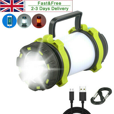 Rechargeable LED Camping Lantern Outdoor Tent Lights /& Power Bank Phone Charger