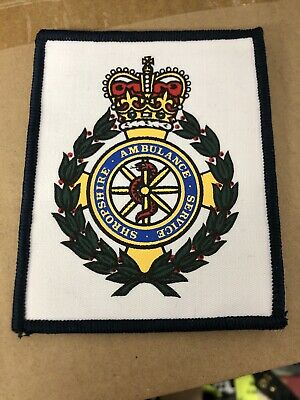 Ex MOD Police Black With White Writing Sew On Badge New Collectors