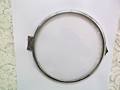 Convex Glass/Chrome Rim From An Old  Mantle Clock 6 1/4 Inch Outer Diam Ref7