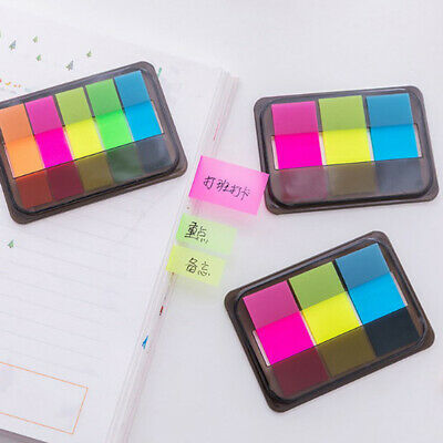 100X plastic self adhesive memo pad sticky notes bookmark marker index paper MN