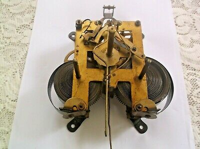 Mechanism  From An Old  Wall Clock Working Order Ref Pa 901