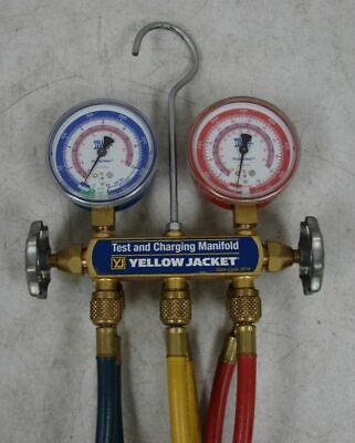 Yellow Jacket HVAC Test and Charging Manifold Flutterless with Hoses