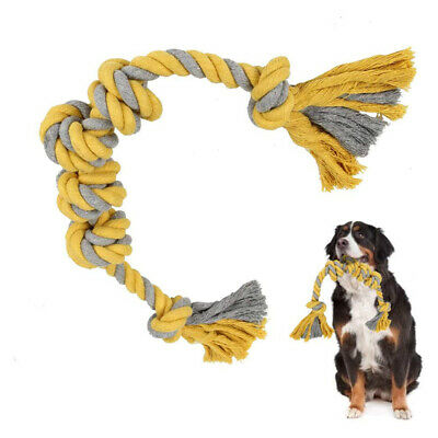Braided Rope Dog Toys Knots Interactive Tough Chew Play For Aggressive Chewers