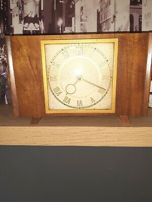 Art Deco Clock Working order Loose Pin On The Back