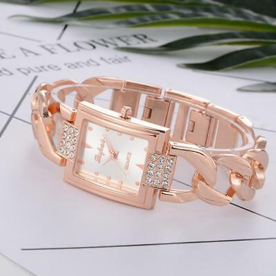 Fashion Womens Luxury Ladies Stainess Steel Quartz Analog Bracelet Wrist Watches