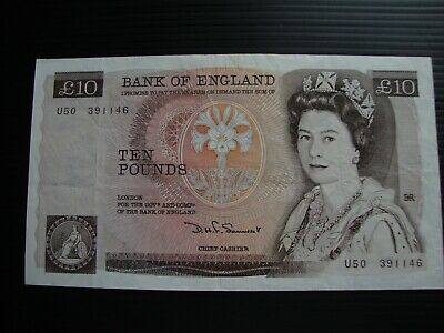 £10 Bank of England 1980 (1st series) Somerset note