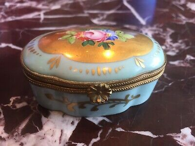 Antique Limoges Hand Painted Porcelain Trinket Box