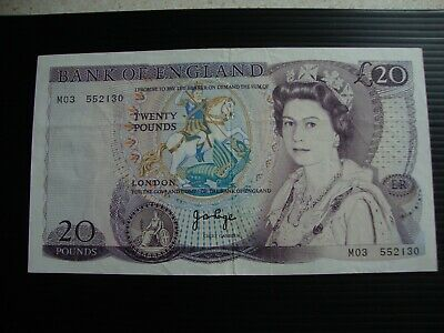 £20 Bank Of England Page 1970  replacement large note light use