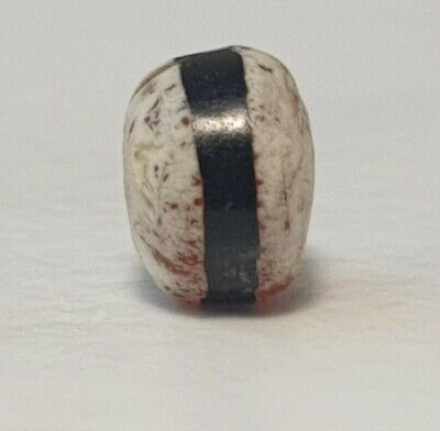 Ancient Rare Indo-Tibetan Etched Agate Single Line Carnelian Patinized Bead