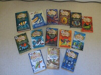 """Complete set of """"How to Train Your Dragon"""" books by Cressida Cowell (14 books)"""
