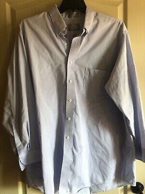 Stafford Executive Fitted White Dress Shirt Pinpoint Oxford New Men/'s 16.5 36//37