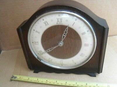 Vintage Bentina Wind Up Mantel Clock Davall Brass Movement Not Working