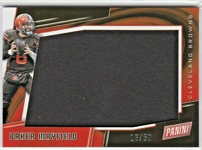 Baker Mayfield Cleveland Browns ^ Panini Black Friday NFL Jumbo Jersey Relic /50