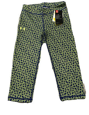 Under Armour Girl's Youth Heat Gear FITTED Crop Capri Leggings Size YMD/M