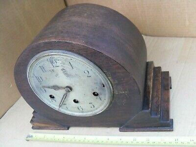 Vintage Mantel Clock Brass Movement & 4 Chimes Not Working