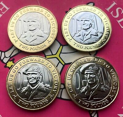 2019 Isle of Man £2 D-DAY coins - All UNC