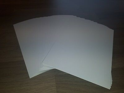 20 Sheets  A4  White Fine Linen Embossed  Textured Card 300Gm