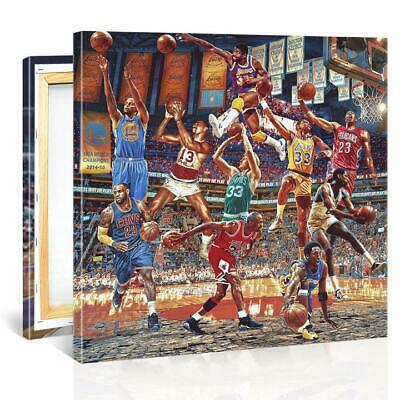 Kobe Bryant, James LeBron, Michael Jordan, BASKETBALL PLAYERS CANVAS