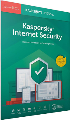 Kaspersky Internet Security 2019 | 5 Devices | 1 Year | Flat Pack (by Post/EU)
