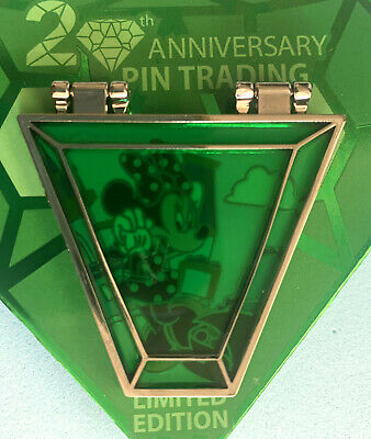 Details about  /*NEW Disney Minnie Mouse Pin Trading 20th Anniversary LE Stained Glass Hinged