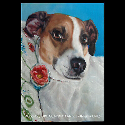 """Labs dogs big eyes friendship gentle 2.5x3.5/"""" ACEO Print BIG LOVE MOOSE by Puci"""