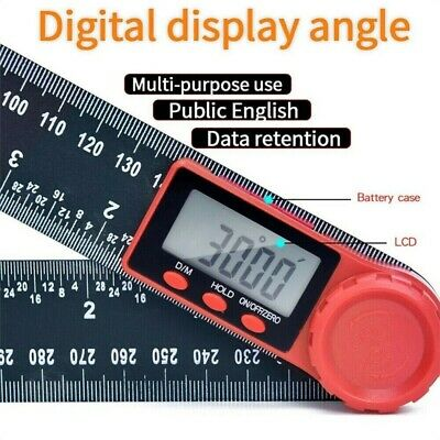"""2 In1 Digital Electronic LCD Digital Angle Finder 8"""" Protractor Ruler Goniometer"""