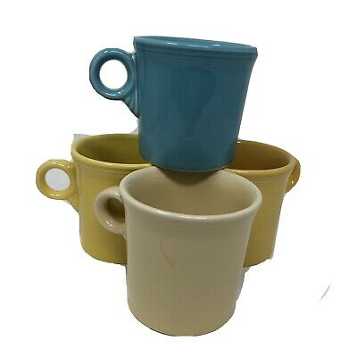 Fiesta Fiestaware Coffee Mugs 4 Cup Set Mixed Colors HLC