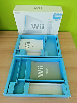 Nintendo Wii Console Empty Box with Insert Trays & User Manuals