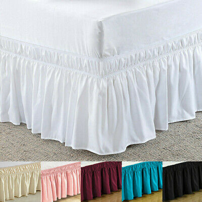 Bed Skirt Lace Dust Ruffle Elastic Bed Base Wrap Bedspread Frilled Fitted Sheet