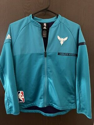 Adidas NBA Basketball Boys Youth Charlotte Bobcats On Court Reversible Jacket
