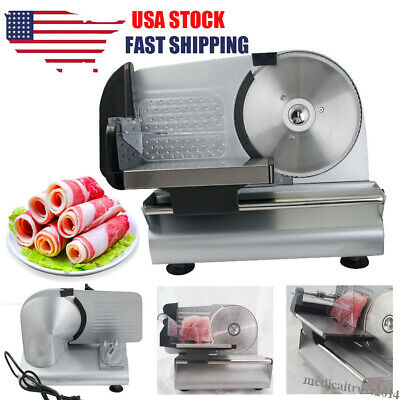 """Commercial Restaurant Electric Food Meat Slicer Deli Cheese Cutter 7.5"""" Blade"""