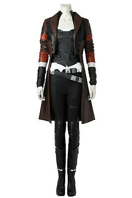 Guardians of The Galaxy 2 Gamora Full set Cosplay Costume Halloween + Shoes