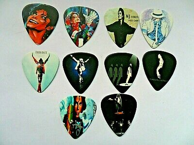 Stunning Set of Five  MICHAEL JACKSON Two Picture Guitar Picks  Double Sided