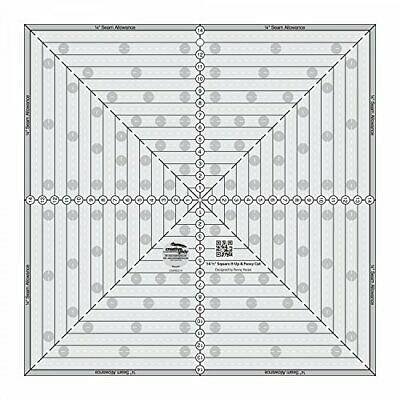 Quilting Template and Ruler 14.5 Inch Square it Up & Fussy Cut - Creative Grids