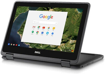 "Dell Chromebook Laptop Flip 11.6"" Touchscreen Intel Celeron 16GB SSD Chrome OS"