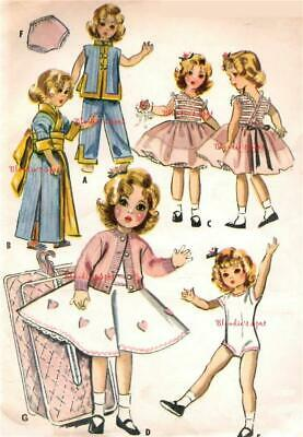 "7973 Vtg Doll Clothes Pattern 16-17/"" Saucy Walker Posie"
