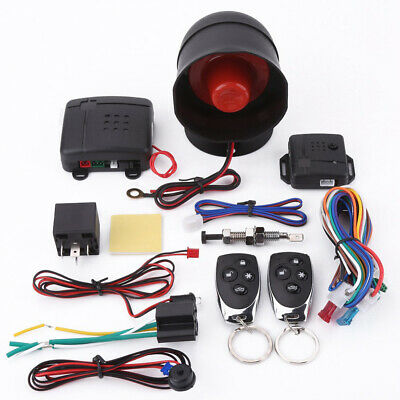 Universal Auto Car Alarm Security System Keyless Entry with 2 Remotes Anti-theft