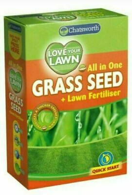 Grass Seed Hard Wearing Lawn Seeds Premium Thick Fast Growing Repair Tough  375g
