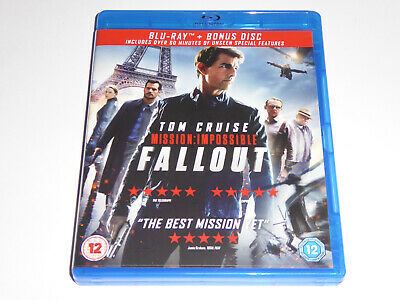 Mission Impossible: Fallout (2018) - GENUINE UK 2-Disc BLU-RAY SET - EXC CONDIT