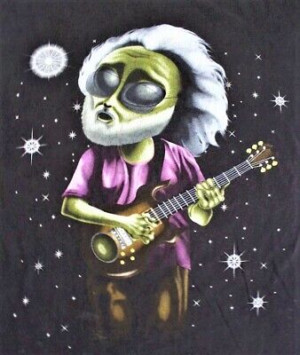 "Grateful Dead Alien Jerry Vinyl Sticker ~ Grateful Dead ~ 3"" x 2.5"" ~ Ships Free"