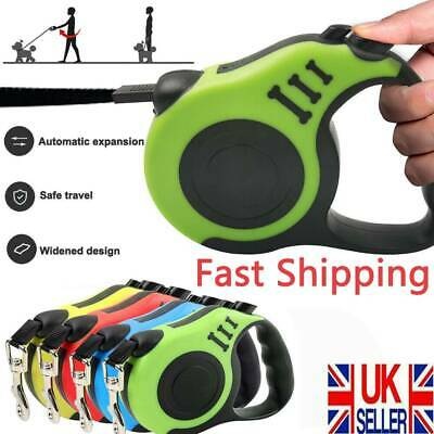 Strong Long Retractable Dog Lead Locking Extending  Tape Cord Pet Dog 3M 5M H