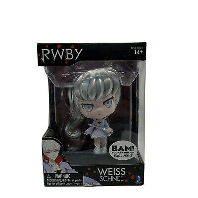 RWBY WEISS SCHNEE Silver Hair Exclusive Figure Rooster Teeth by Jazwares NEW