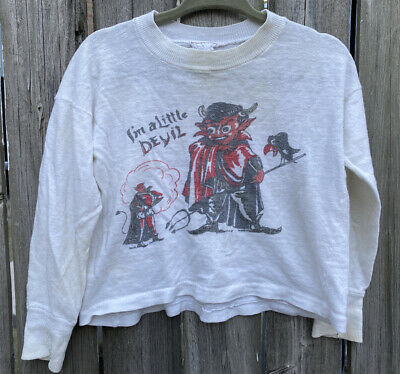 Vintage 50s 60s Little Devil Toddler T Shirt Child Size Rare Cotton