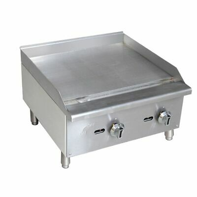 """S/S Manual Control Natural Gas 24"""" Griddle"""