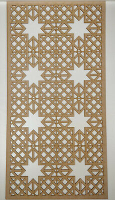 Radiator Cabinet decor. Screening Perforated 3mm & 6mm thick MDF laser cut M7