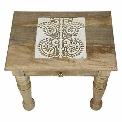 ALIZA Wooden Lack Coffee Table 55x55cmEnd Display Square Office /& Home Table