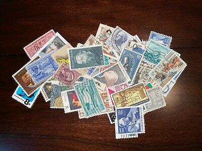50 all different US postage stamps, used, off paper