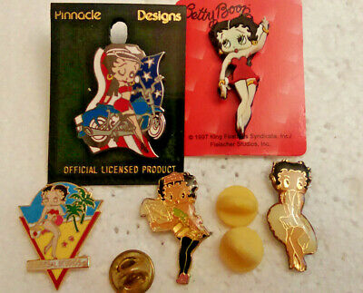 New 7 Designs Betty Boop Lapel Pin