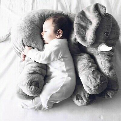 Stuffed Animal Cushion Kids Baby Sleeping Soft Pillow Toy Cute Elephant USA